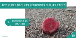 pollution des plages bouchons de bouteille